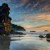 Sonnenuntergang an der kalifornischen Küste