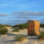 Strandkorb in Dünen
