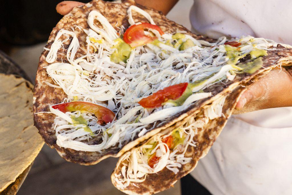 Straßenverkäufer mit Tortillas
