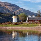 Ardgour Lighthouse am Loch Linnhe in der Nähe von Fort William