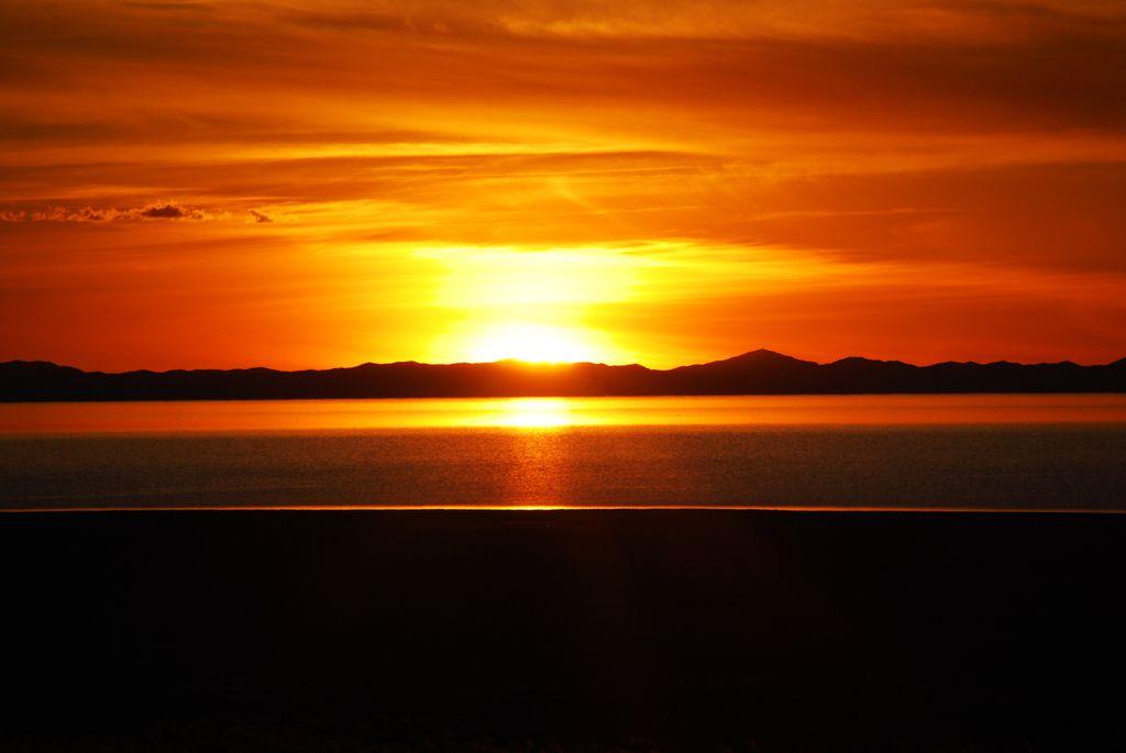 Sunset am Salt Lake