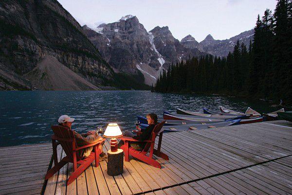 Gemütlicher Abend am See