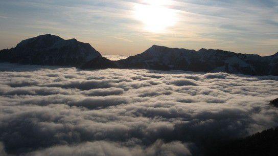 Über den Wolken (Bergsteigen, Berchtesgadener Alpen)