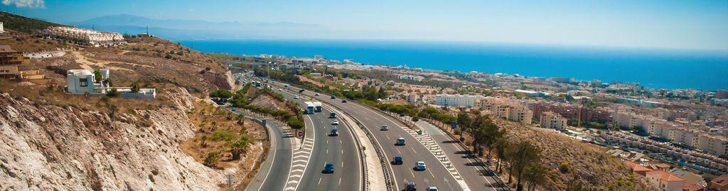 Autobahn an der Costa del Sol