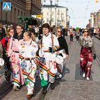Finnische Studenten feiern Walpurgisnacht