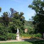 Blick vom Park in die Weinberge