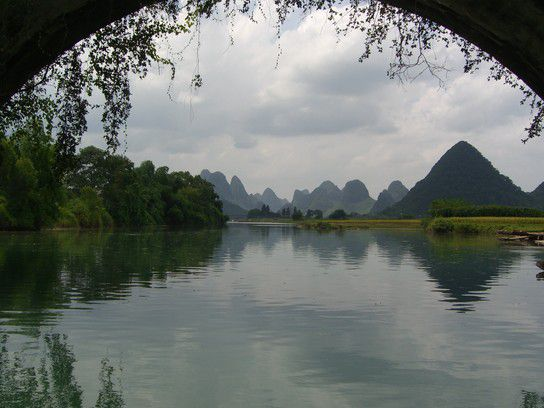 Li-Fluß nahe Yangshou