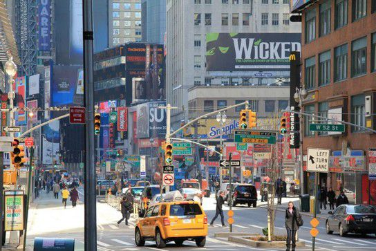 Times Square in New York bei Tag