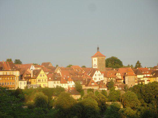 Rothenburg ob der Tauber in der Abendsonne