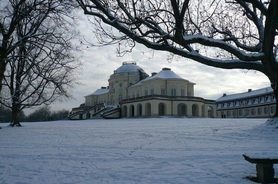 Schloss Solitude im Winter