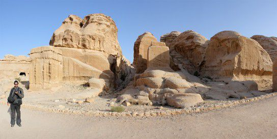 Steinformation in Petra