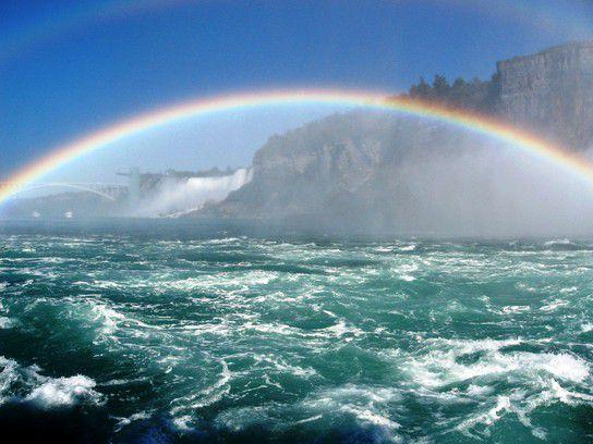 Rainbow at Niagara Falls, New York