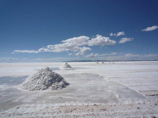 Salzkegel für den Abbau von Salz