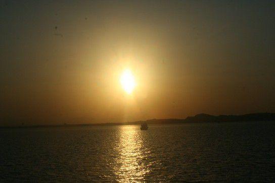 Hurghada - Sonnenuntergang am Meer