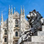Löwenstatue vor dem Mailänder Dom