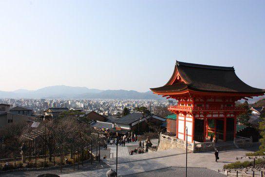 Sicht vom Tempel über Kyoto