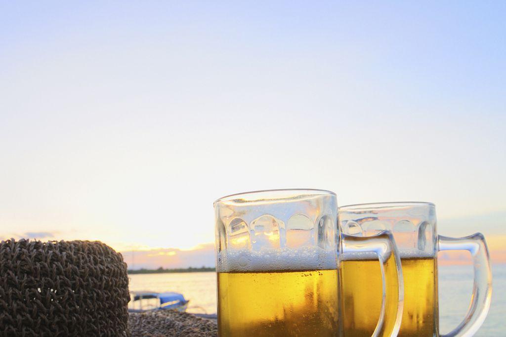 Bier an Touristenfallen trinken