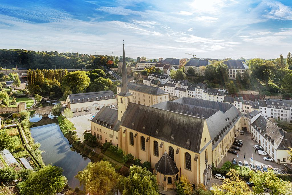 Panoramaansicht von Luxemburg