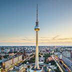 Blick über Berlin mit dem Fernsehturm