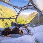 Federbett mit Panoramablick in den Anden