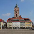 Brunnenplatz und Marienkirche in Frankfurt (Oder)