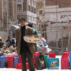 Straßenverkäufer in der Altstadt von Sanaa