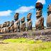 Moai am Ahu Tongariki auf der Osterinsel