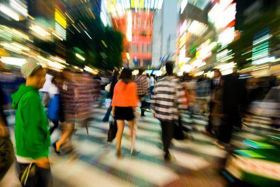 Nachts in Tokio