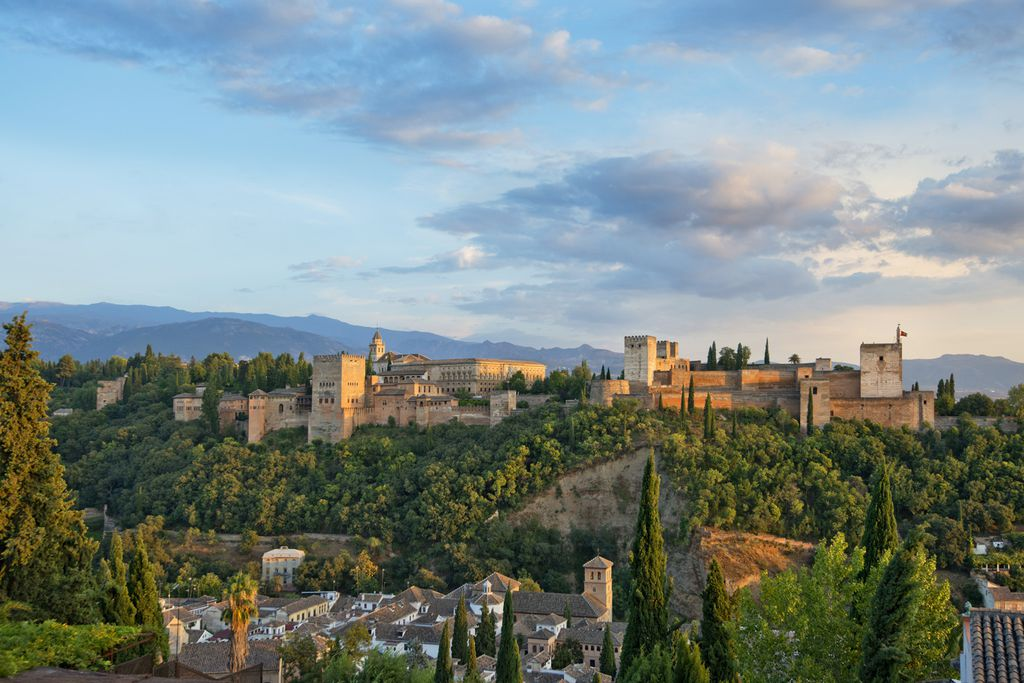 Alhambra vom Mirador de San Nicolas aus gesehen