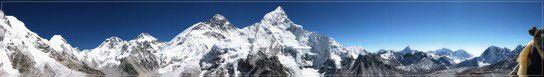 Top Panorama im Mt. Everest Gebiet