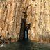Interessante Felsformation im Geopark auf Bluff Island