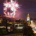 Feuerwerk über Edinburg