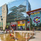 Das Corvin Plaza Einkaufszentrum in der Innenstadt von Budapest
