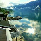 Morgen am Fjord