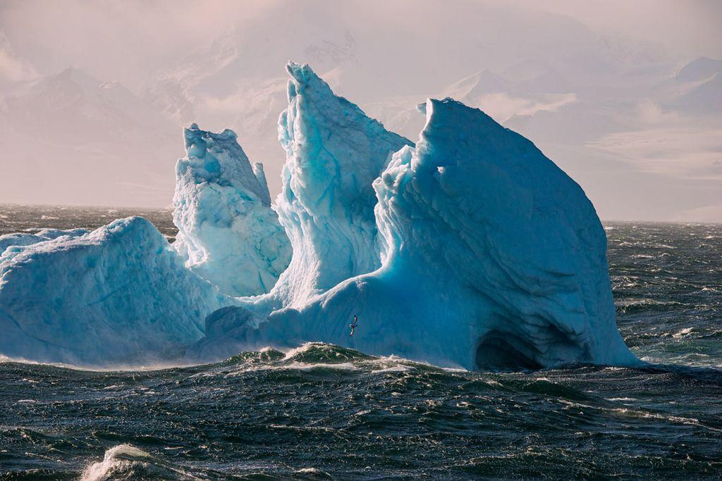 Eisberge im Meer