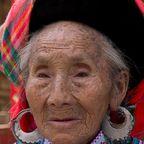 alte Frau in Yunnan