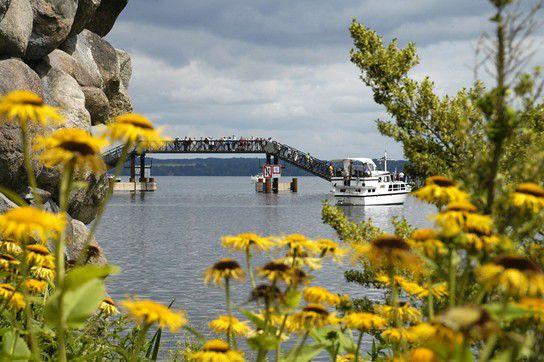 BuGa Gelände ( Schwimmende Brücke ) in Schwerin