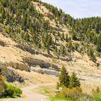 Warnschild am Colorado State Highway