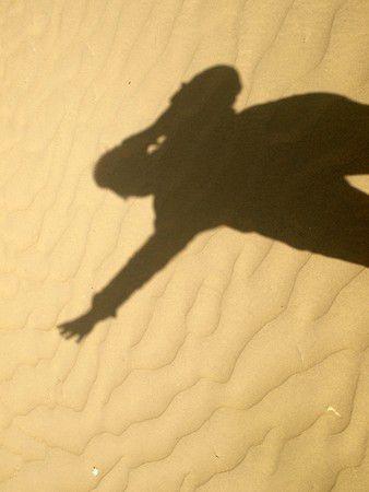 Schatten ind der Wüste