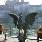Brunnen in Basel mit Münster