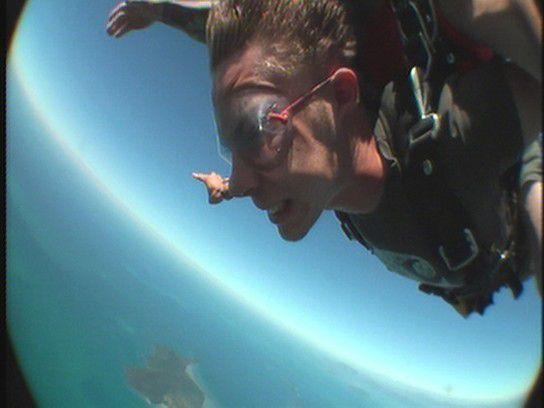 Skydive über dem Great Barrier Reef