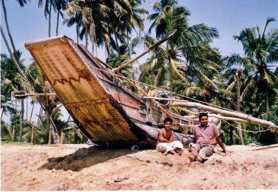 Am Strand von Sri Lanka