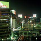 Shibuya-Crossing bei Nacht