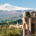 Taormina: Griechisches Theater mit Blick auf den Vulkan