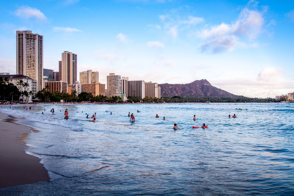 Waikiki Beach in Honolulu