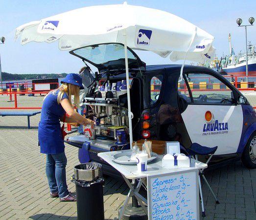 Kaffeepause am Hafen von Klaipeda