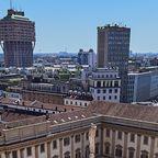 Blick vom Dach des Mailänder Domes