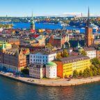 Blick auf die Altstadt Gamla Stan in Stockholm