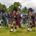 Pipe Band während der Highland Games