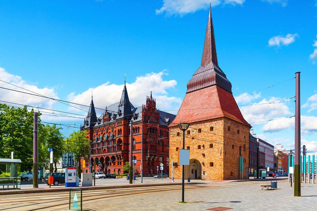 Steintor und Ständehaus in Rostock